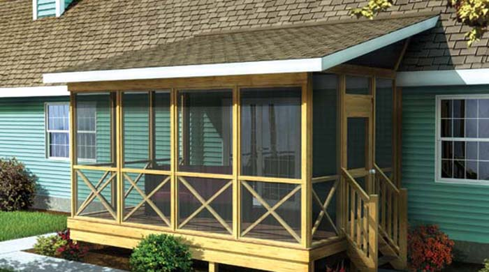 Porch roof designs for Porch plans shed roof