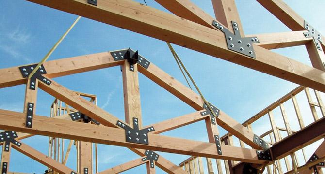Roof truss spacing for Manufactured roof trusses