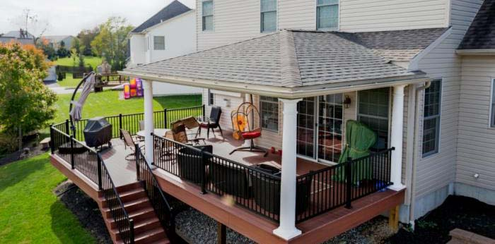 Hip Porch roof