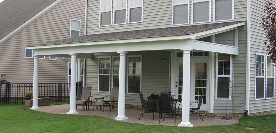 How to build a porch roof for Steps to building a new home