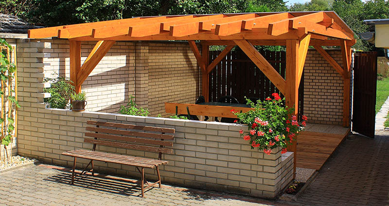 - PITCHED ROOF PERGOLA