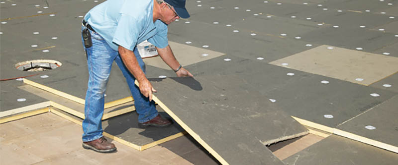 Flat Roof Construction Building Installation