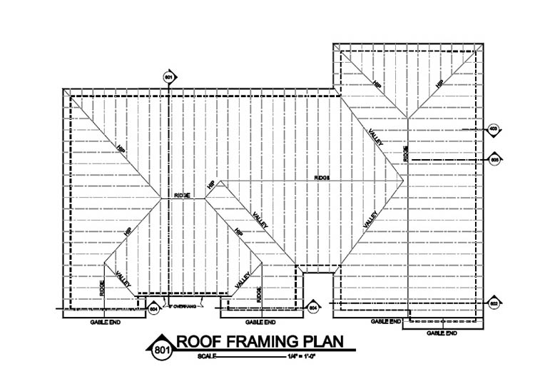 Roof framing plan best image nikotub com for Truss layout plan