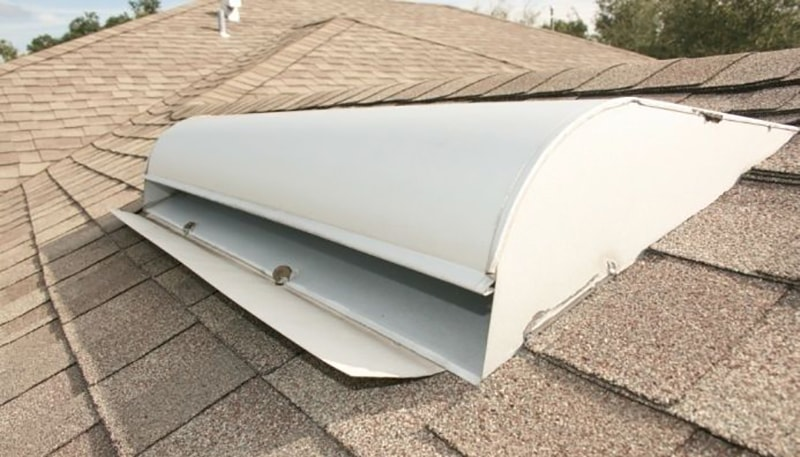 Off Ridge Roof Vent