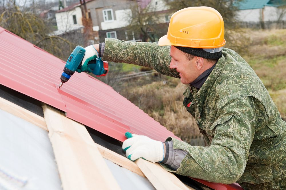 How To Screw Down Metal Roofing